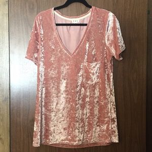 Pink velvet shirt